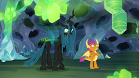 Chrysalis-Ocellus unable to hear Smolder S8E22