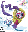 Comic issue 3 Rarity skiing outfit