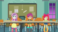 Crusaders sitting in Cranky's classroom CYOE10b