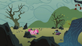 Filly Pinkie pushing a rock S1E23.png