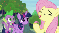 "Fluttershy ""can't think of a single bad thing"" S9E26"