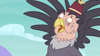 Grampa Gruff looking shocked at Gallus S8E2