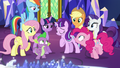 Main cast looks at Starlight Glimmer S5E26.png