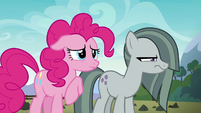 Marble Pie glaring at Limestone Pie S8E3