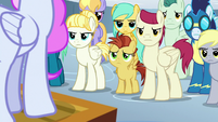 Pegasi listening to Cotton Sky S9E25