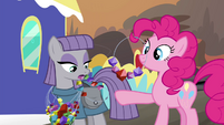 Pinkie Pie and Maud trade necklaces S4E18