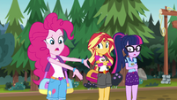 "Pinkie calls Sunset and Twilight ""demon friends"" EG4"