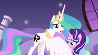 Princess Celestia helps Starlight in her nightmare S7E10