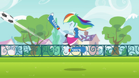 Rainbow Dash energetic soccer kick EG