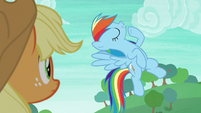 Rainbow Dash practicing her poses S8E9