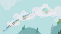Rainbow speeds through clouds S1E05