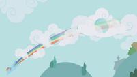 Rainbow speeds through clouds S1E05