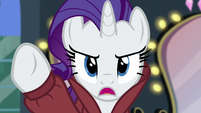 "Rarity ""of ruining that ivory scarf!"" S5E15"
