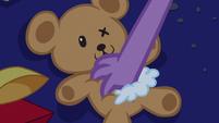 Spike grabs the teddy bear S5E12