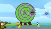 Spitfire shows the ponies the Dizzitron S3E07