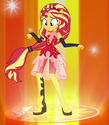 Sunset Shimmer Friendship Power ID EGFF