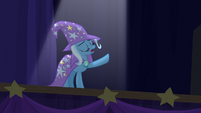 Trixie unenthusiastic --save your gasps-- S6E6