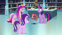 Twilight a little shocked by Cadance's question S6E2