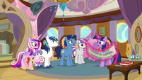 Twilight mentions tiny boats to Shining Armor S7E22
