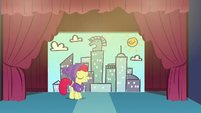 Apple Bloom standing on stage S6E4