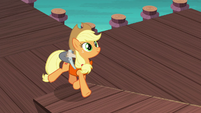 Applejack boarding the ship S6E22