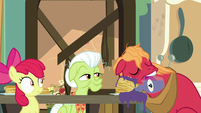 Big Mac sleeping on his pancakes S9E10