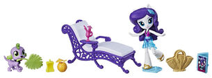 Equestria Girls Minis Rarity Relaxing Beach Lounge Set