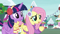 "Fluttershy ""what's a Hearthswarming Helper?"" MLPBGE"