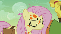Fluttershy taking a calming breath S7E20