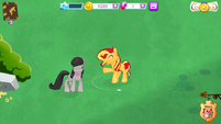 Octavia and Sunset Shimmer (MLP Mobile Game)