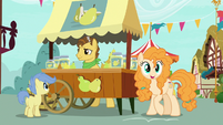 Pear Butter notices Bright Mac across the street S7E13