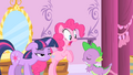 Pinkie Pie's reaction to Spike's crush on Rarity S1E20.png