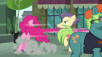 Pinkie Pie appears before Pouch Pony S6E3