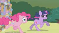 Pinkie Pie suggesting a tuba S1E10