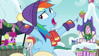 "Rainbow Dash ""everypony in town"" MLPBGE"