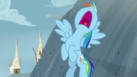 Rainbow Dash taking a deep breath S8E2
