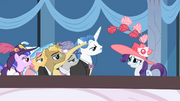 "Rarity ""She's the Wonderbolts' trainer, of course"" S02E09"