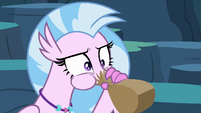 Silverstream hyperventilates into paper bag S9E3