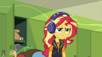 Sunset annoyed by her headphones' uselessness EGDS5