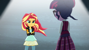 Sunset faces Twilight Sparkle EG3