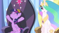 Twilight Sparkle cheering S4E24