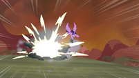 Twilight destroys a rock S4E26