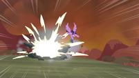 Twilight destroys a rock S4E26