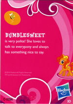 Wave 1 Bumblesweet collector card back
