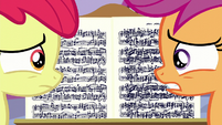 Apple Bloom and Scootaloo nervous S6E4
