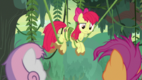 Apple Bloom tangled up in vines S9E22