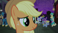 Applejack listens to Rarity S5E16.png