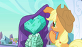 Applejack looking at the heart S3E2.png