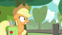 Applejack surprised at Granny's words S9E10