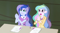 Celestia and Luna applaud Trixie and the Illusions EG2.png